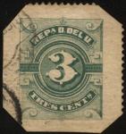 Sellos de America - Uruguay -  3 centésimos.