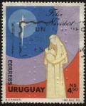 Stamps Uruguay -  María y el niño Jesús. Feliz Navidad 1983