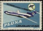 Stamps of the world : Uruguay :  Vuelo inaugural del BOEING 727 de PLUNA en noviembre de 1978. Primeras líneas uruguayas de navegació