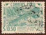Stamps : America : Peru :  Andenes de Pisac, Cusco
