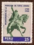 Stamps : America : Peru :  Bicentenario de la Rebelión de Túpac Amaru, 1780 - 1980