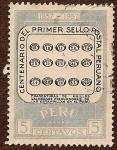 Stamps : America : Peru :  Centenario del Primer Sello Postal Peruano. 1857 - 1957