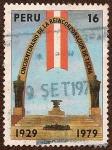 Stamps : America : Peru :  Cincuentenario de la Reincorporación de Tacna. 1929 - 1979