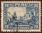 Stamps : America : Peru :  Coronación de Huascar