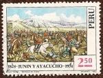 Stamps : America : Peru :  Sesquicentenario de las Batallas de Junin y Ayacucho 1824 - 1974