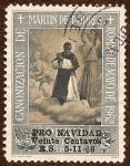 Sellos de America - Per� -  Canonizaci�n de San Mart�n de Porres. Roma 6 mayo de 1962.