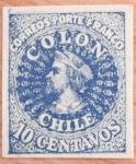 Sellos del Mundo : America : Chile : PRIMERA IMPRESION DE LONDRES