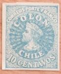 Sellos del Mundo : America : Chile : PRIMERA IMPRESION DE LONDRES PORTE FRANCO