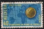 Sellos del Mundo : Europa : Suiza :  Campeonato mundial de Futbol.