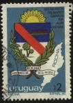 Stamps Uruguay -  Departamento de Rocha. Aquí nace el sol de la Patria. Balneario, palmares, ganadería, agricultura. E