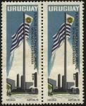 Stamps America - Uruguay -  Plaza de la nacionalidad oriental. Monumento a la Bandera en la zona de Tres Cruces en Montevideo.