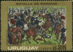 Stamps of the world : Uruguay :  Batalla de Sarandí, triunfo del ejército Uruguayo el 12 de octubre de 1825 al mando del General Lava