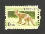 Sellos del Mundo : Europa : Rusia : fauna, un lobo
