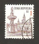 Stamps : Europe : Czech_Republic :  vista de ceske budejovice
