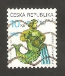 Stamps : Europe : Czech_Republic :  acuario signo del zodiaco
