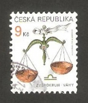 Stamps : Europe : Czech_Republic :  libra signo del zodiaco