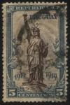 Stamps Uruguay -  Conmemorativo de la firma de la paz de la primera guerra mundial. Estatua de la libertad de Nueva Yo