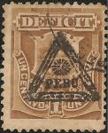 Stamps Peru -  Sello de Multa con sobrecarga de Triangulo