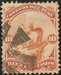 Stamps America - Peru -  Series 1866 - 1874 emitidas por la American Bank Note Co.