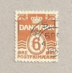 Sellos de Europa - Dinamarca -  Escudo y cifras