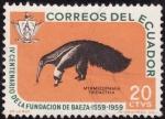 Stamps Ecuador -  IV Centenario de la fundacion de Baeza(OSO HORMIGUERO)