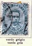 Stamps Italy -  Humberto I edicion 1889
