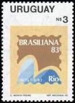 Stamps Uruguay -  Brasiliana '83