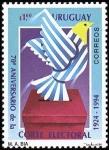 Stamps : America : Uruguay :  70 Aniv. Corte electoral