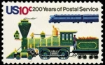 Stamps United States -  Old and New Locomotives
