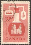 Stamps of the world : Canada :  290 - Recursos económicos, industria química