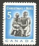 Stamps : America : Canada :  Navidad, familia esquimal
