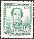 Sellos de America - Chile -  PRESIDENTE J. J PRIETO CENTENARIO DE SU FALLECIMIENTO