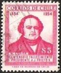 Sellos de America - Chile -  CENTENARIO FALLECIMIENTO PRESIDENTE J. J  PRIETO - EGAÑA