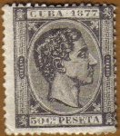 Stamps America - Cuba -  Rey ALFONSO XII