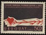 Stamps Uruguay -  3er. congreso de la Federación Panamericana Pro Donación Voluntaria de Sangre. Montevideo 23 al 25 d