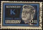 Sellos de America - Uruguay -  Homenaje a John F. Kennedy.