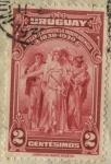 Stamps of the world : Uruguay :  100 años de la declaratoria de la Independencia de Uruguay. Grupo de personas alegoría a la Independ