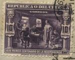 Sellos del Mundo : America : Uruguay : 100 años declaratoria independencia de Uruguay. El General Artigas dictando a su secretario D. José