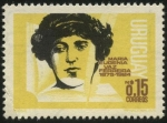 Stamps of the world : Uruguay :  María Eugenia Vaz Ferreira, 1875 - 1924. Profesora y poetisa uruguaya.