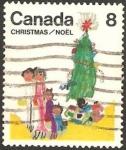 Sellos del Mundo : America : Canadá : navidad, la familia
