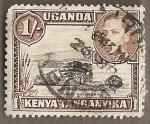 Stamps Africa - Uganda -  Arboles en  la savana