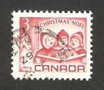 Sellos del Mundo : America : Canadá :  navidad, niños cantando villancicos