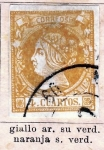 Stamps Europe - Spain -  Isabell II Edicion 1860