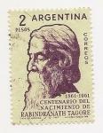 Sellos de America - Argentina -  Centenario del Nacimiento de Rabindranath Tagore