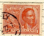 Stamps Oceania - New Zealand -  Chef Maori Conm. de la Victoria