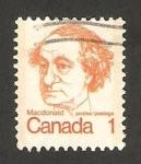 Stamps : America : Canada :  sir john a. macdonald, primer ministro