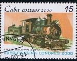 Stamps Cuba -  Exposicion Filat. Inter. LONDRES 2000 (1912 Baldwn 2-8-0 )