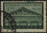 Sellos de America - Argentina -  100 años de la Bolsa de Comercio en Argentina. Frente del edificio de la Bolsa de Comercio en Buenos