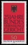 Stamps : Europe : Germany :  25 years of the German Bundesverfassungsgericht