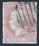 Stamps Europe - Spain -  Isabel II. - Edifil 12